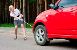 Буксировка авто на гибкой сцепке фото