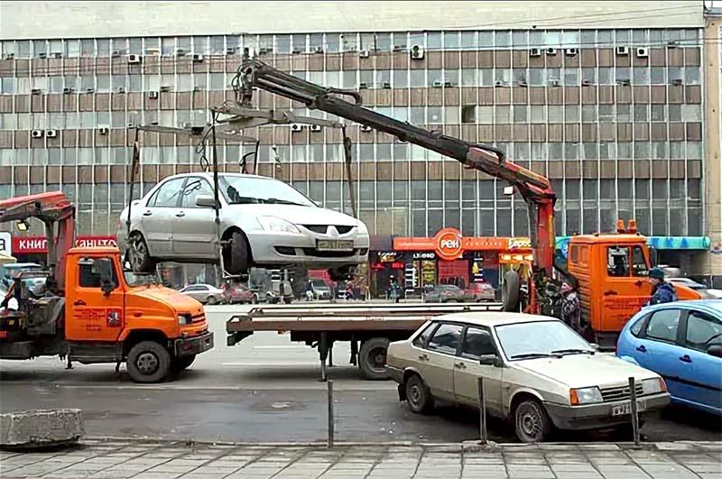 Эвакуация авто с вывернутыми колесами