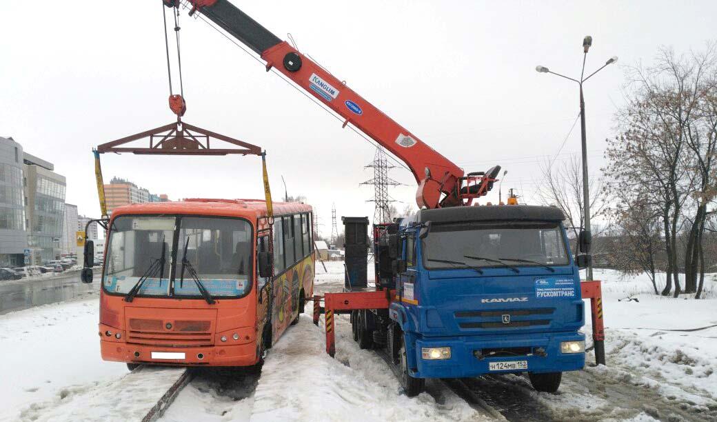 Эвакуация автобусов
