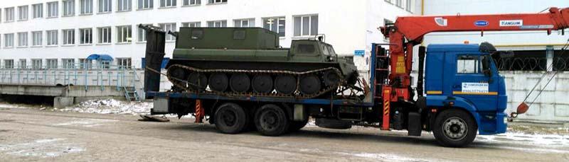Особенности перевозки военной техники